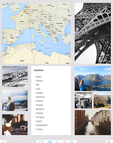 Travel Photography, Maps, videos, collages